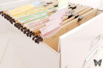 Unterlagen einfach organisiert