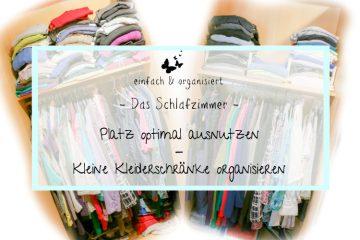 Kleine Kleiderschränke organisieren