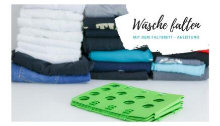 Wäsche falten mit dem Faltbrett