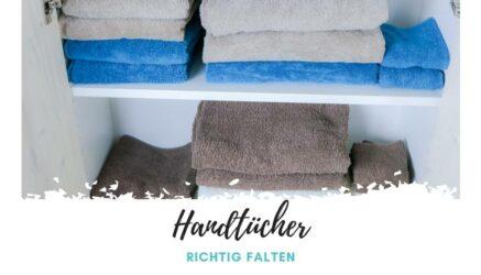 Handtücher richtig falten