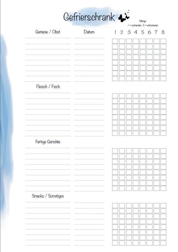 Gefrierschrank Checkliste