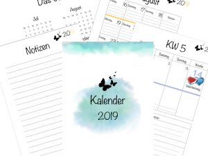 Kalender 2019 Watercolor Design