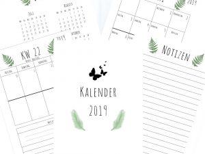 Kalender 2019 mit Farn