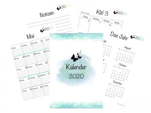 Kalender 2020 Watercolor Design