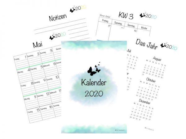 Kalender 2020 Watercolor Design