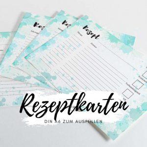 Rezeptkarten DIN A6 zum ausfüllen