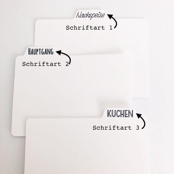 Trennblätter für Rezeptkartenbox