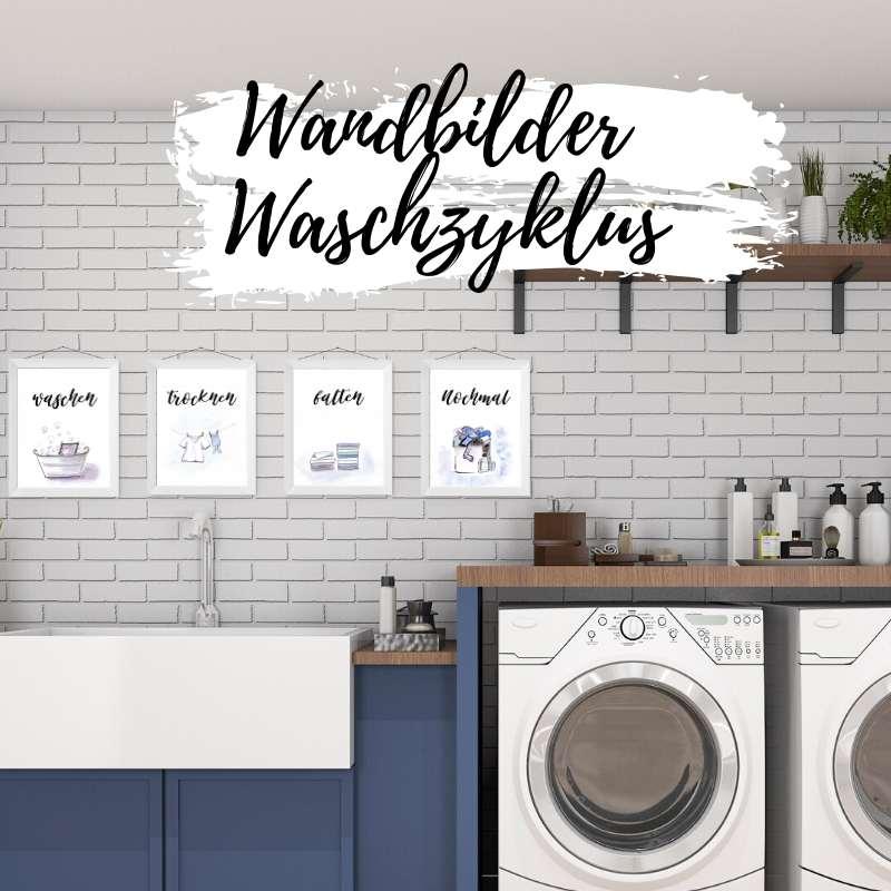 Waschkammer Hauswirtschaftsraum Wandbilder