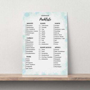 Packliste für deinen Urlaub