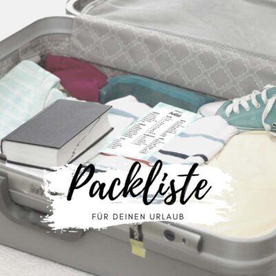 Packliste für den Urlaub Urlaubspackliste