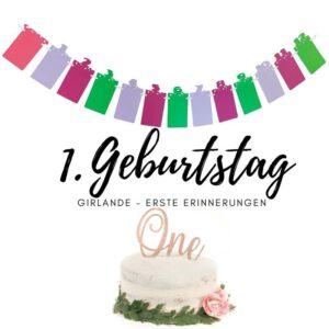 Foto Girlande - Erster Geburtstag - 12 Monate
