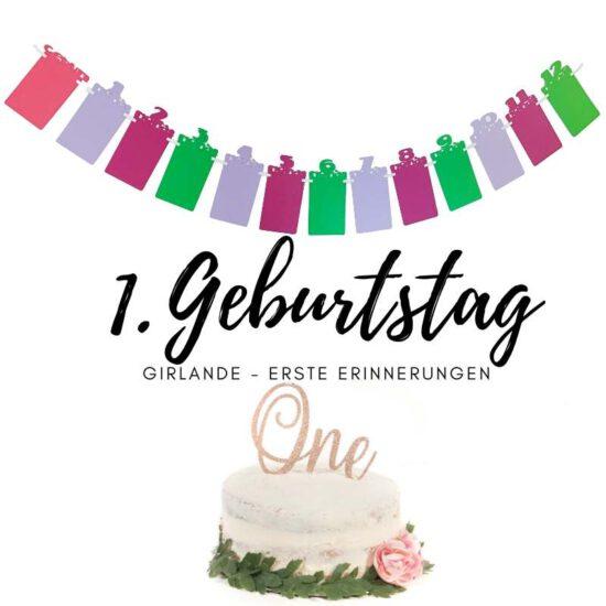 Erster Geburtstags Girlande