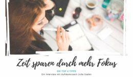 Top 5 Julia - Zeit sparen durch Fokus