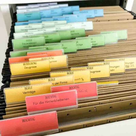 Beschriftungskärtchen für Hängeregister