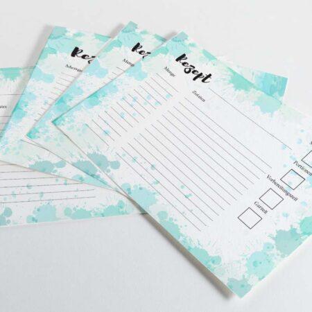 Rezeptkarten zum Ausfüllen DIN A6