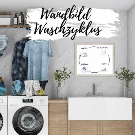Wandbild - Waschzyklus Motivation